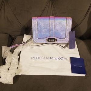 Rebecca Minkoff Iridescent Leather Small Love Bag